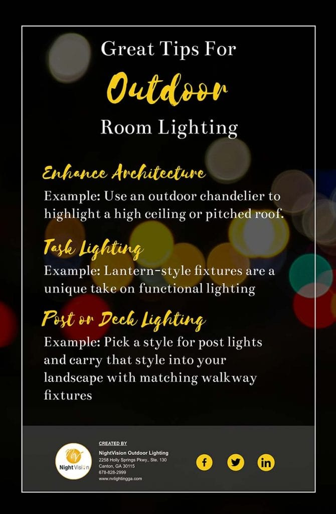 Great Outdoor Room Lighting Tips [infographic]