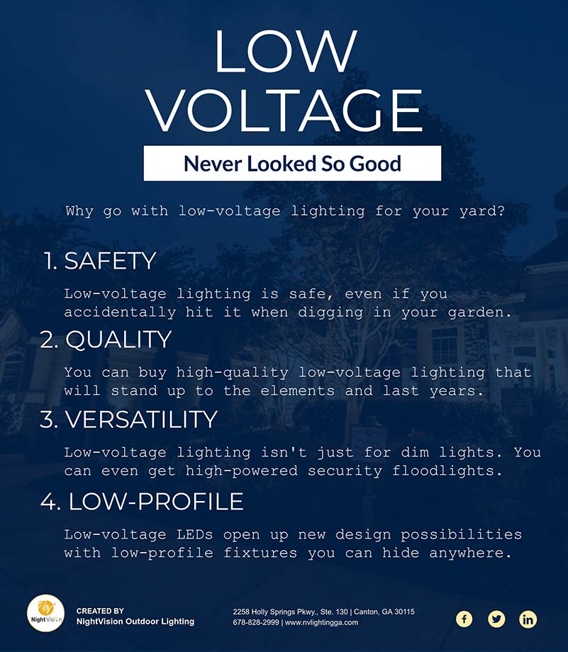 Low Voltage Landscape Lighting Never Looked So Good [infographic]