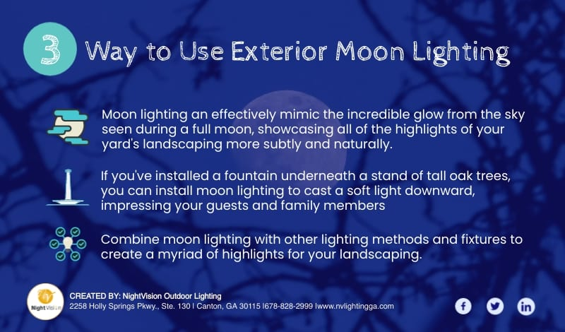 Why Exterior Moon Lighting is a Great Way to Accent Your Home [infographic]