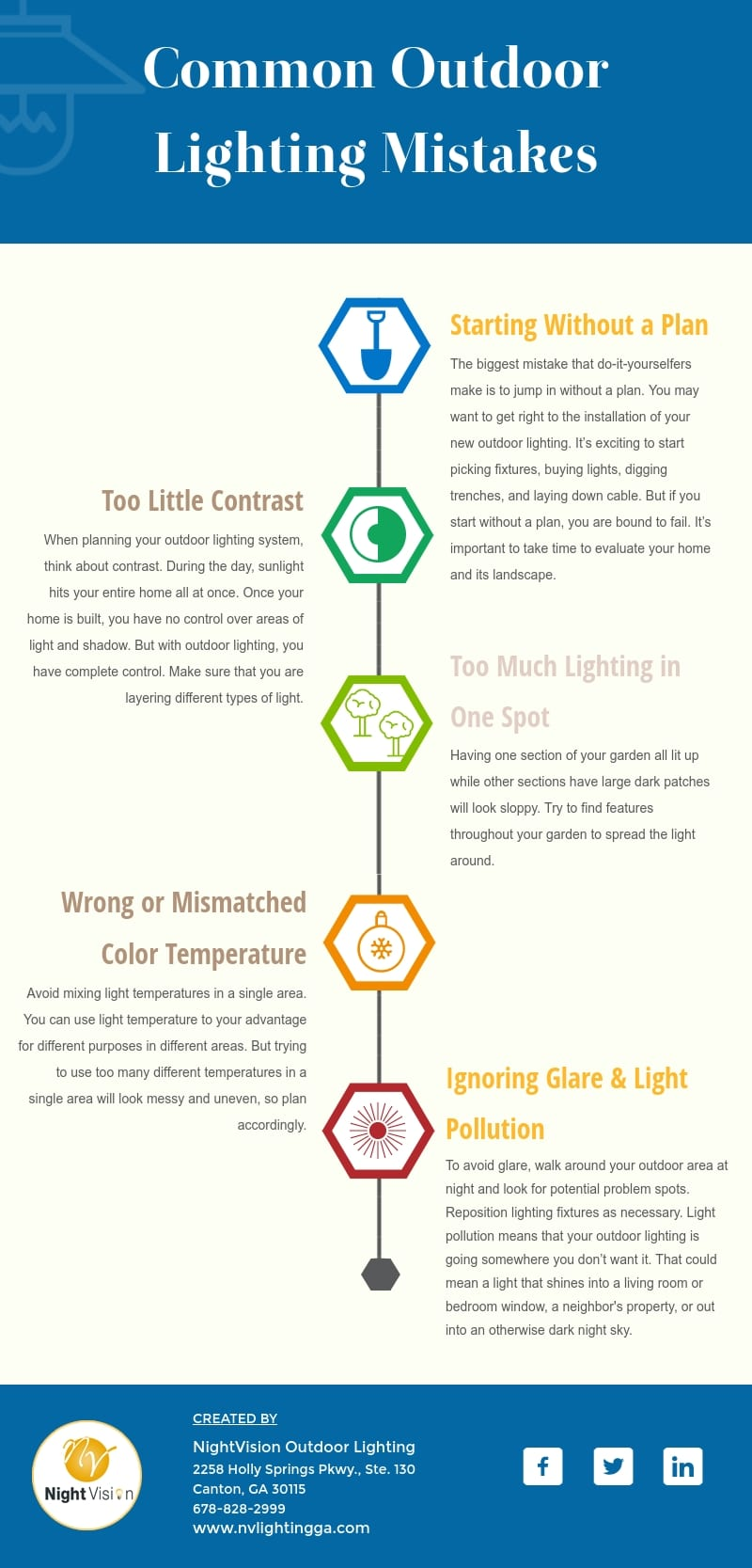 Common Outdoor Lighting Mistakes and How to Avoid Them [infographic]