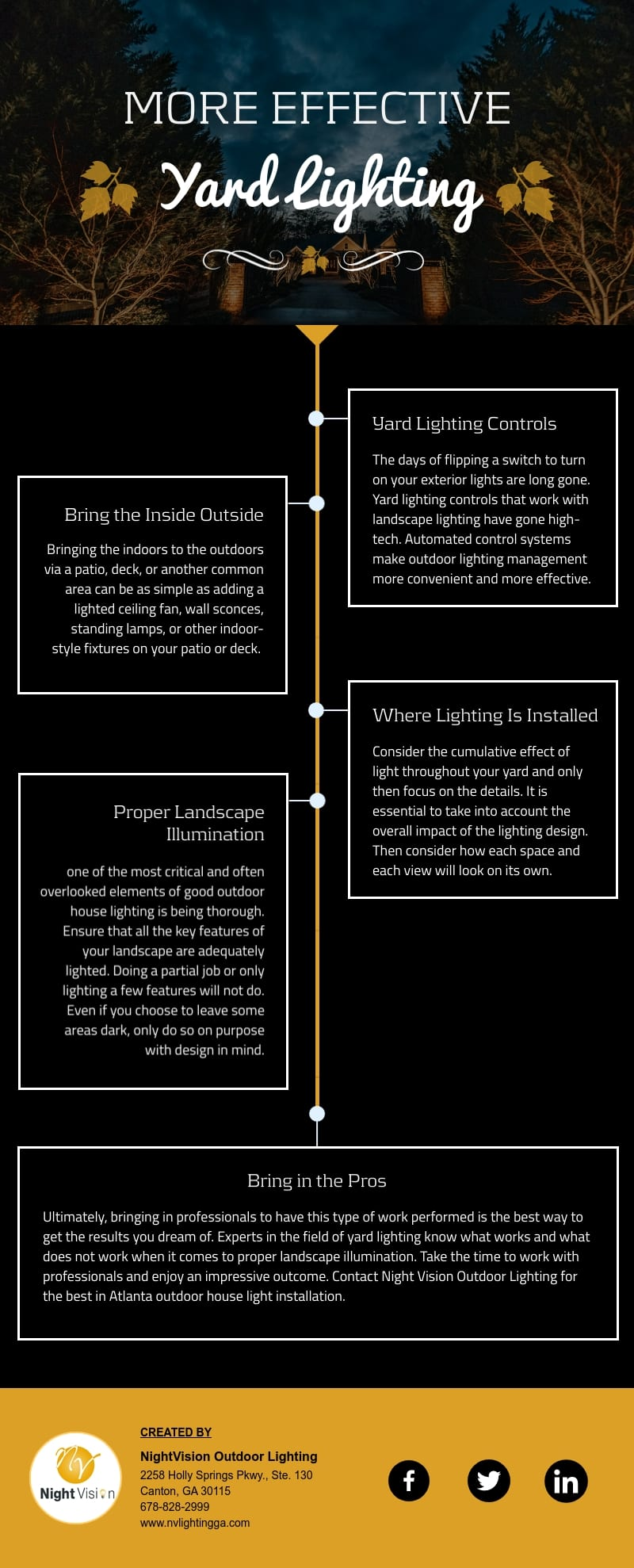 Tips On More Effective Yard Lighting [infographic]