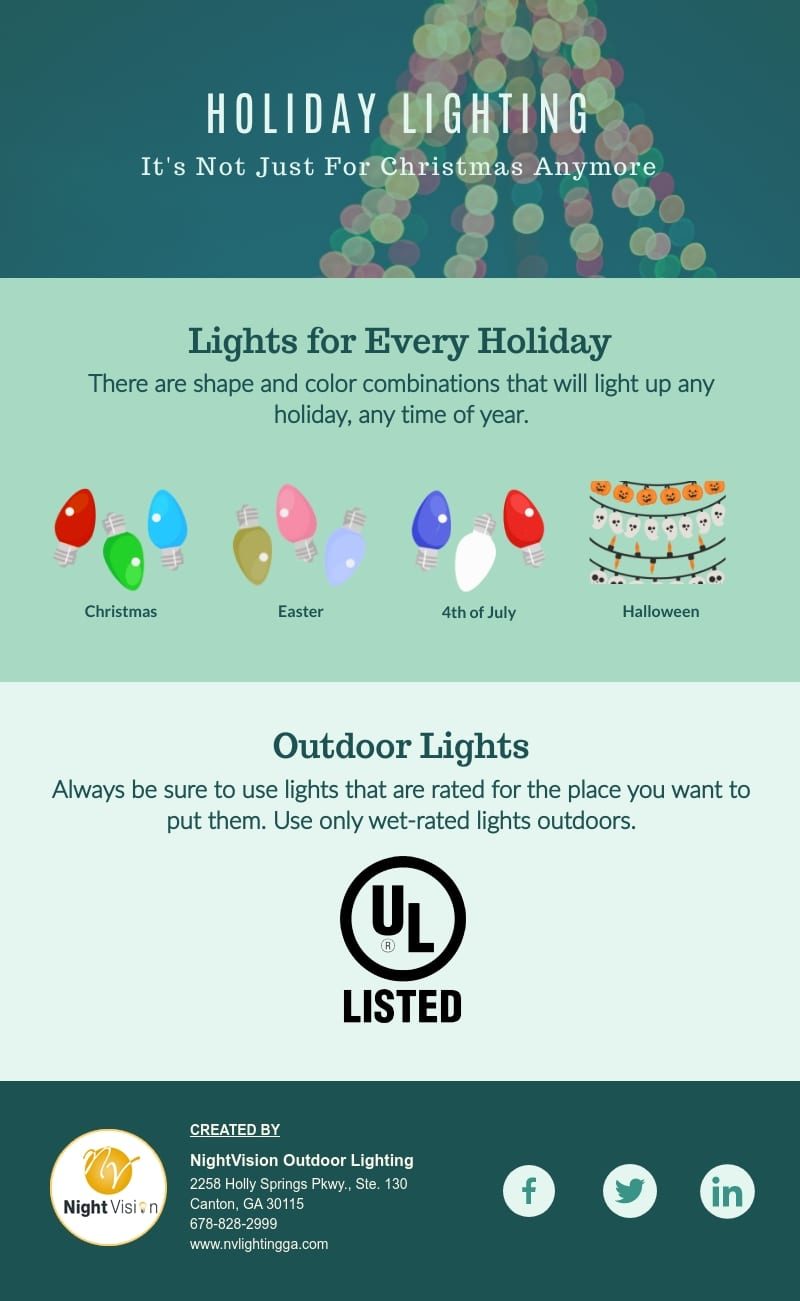 Holiday Lighting - It's Not Just For Christmas Anymore [infographic]