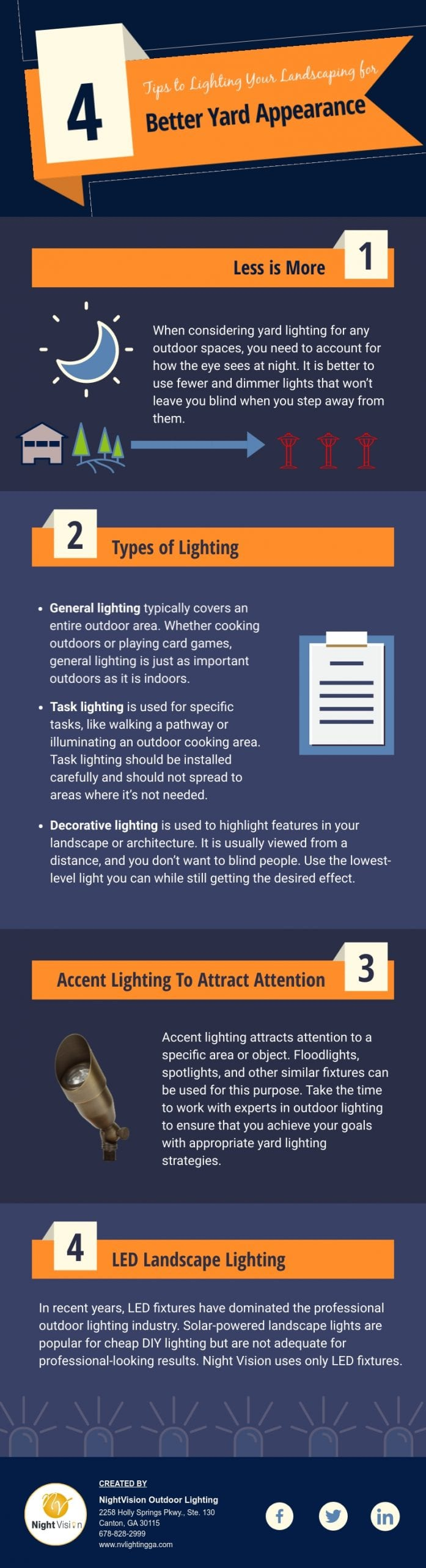 Lighting Your Landscaping For An Overall Better Yard Appearance [infographic]