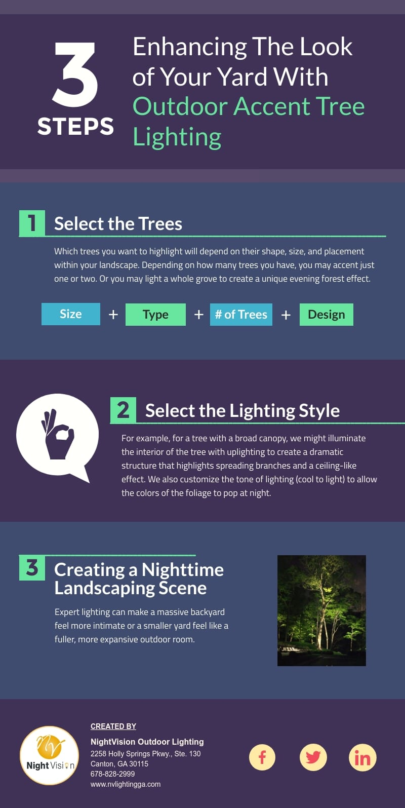 Enhancing The Look of Your Yard With Outdoor Accent Tree Lighting [infographic]