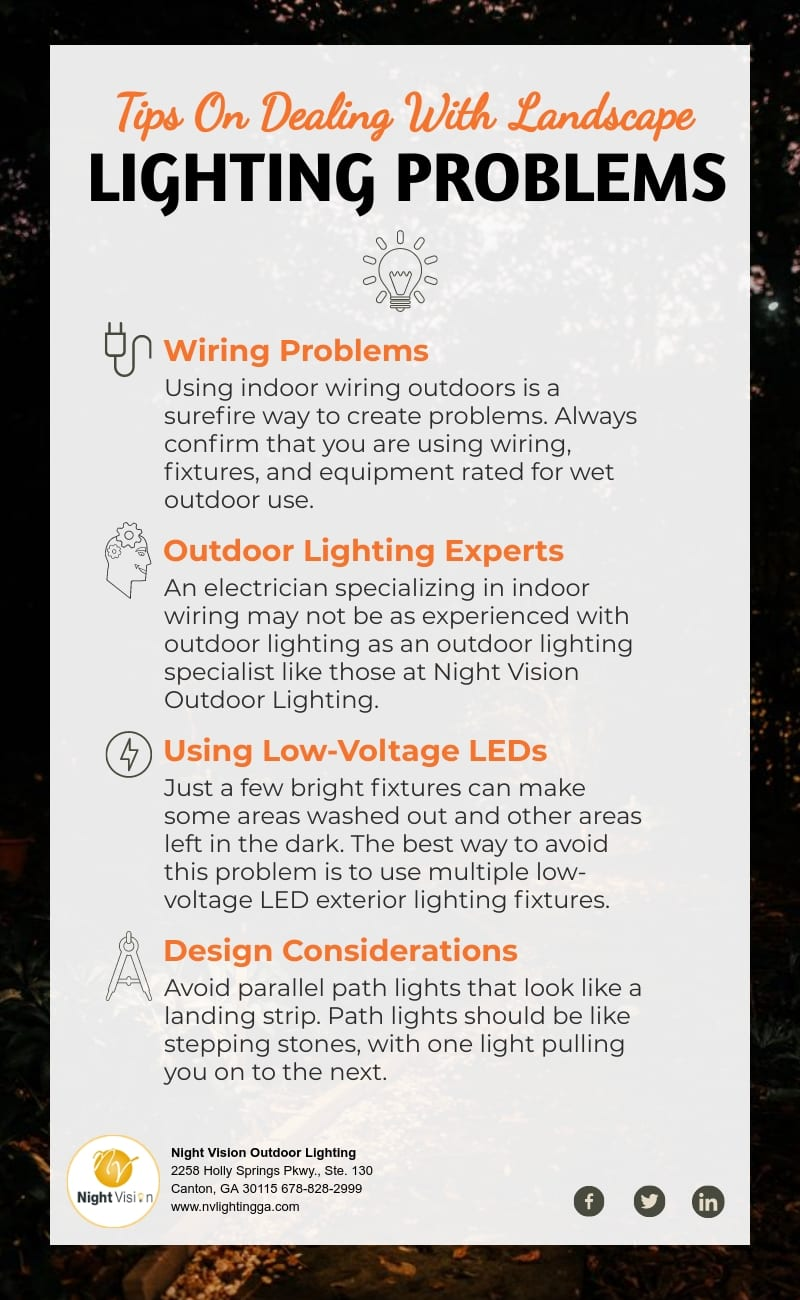 Tips On Dealing With Landscape Lighting Problems [infographic]