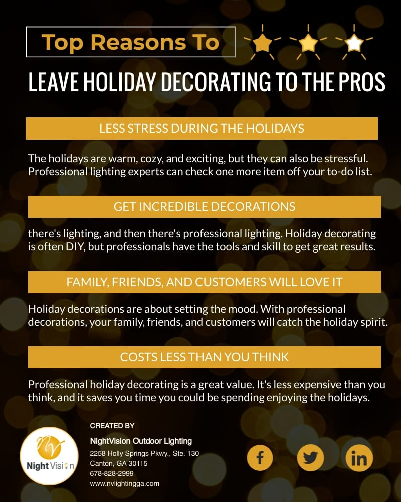 Trust Your Holiday Decorating Needs to a Holiday Lighting Company [infographic]