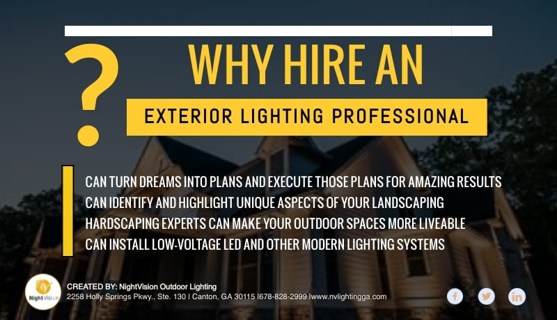 Why Hire An Exterior Lighting Professional [infographic]